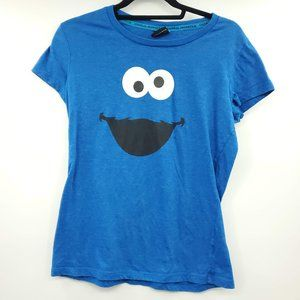Sesame Street Cookie Monster Face Graphic Tee